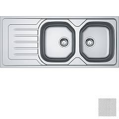 Franke Oll 621 2 bowl recessed sink 116 x 50 with left drainer - dekor Onda Line