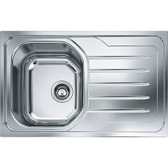 Franke Olx 611 Built-in sink 1 bowl 79 x 50 with right drip - stainless steel Onda Line