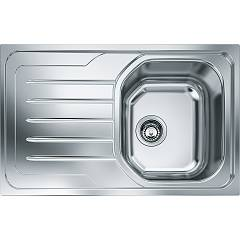 Franke Olx 611 Built-in sink 1 bowl 79 x 50 with left drainer - stainless steel Onda Line