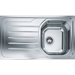 Franke Olx 611-l 86 x 50 built-in sink 1 bowl with left drainer - stainless steel Onda Line