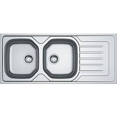 Franke Olx 621 116 x 50 built-in sink 2 bowls with right drip - stainless steel Onda Line