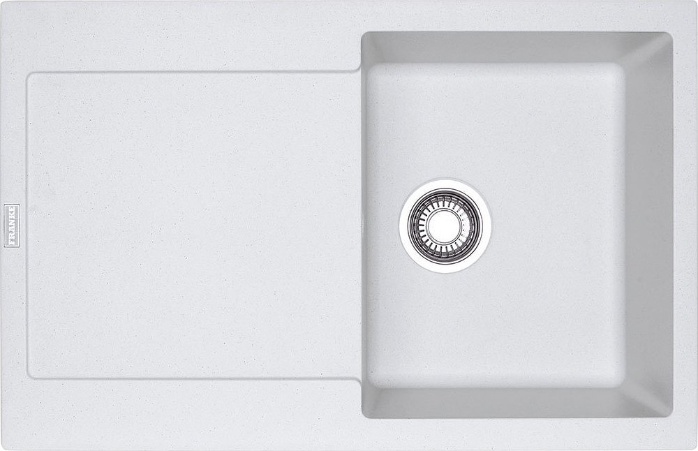 Photos 1: Franke MRG 611 Maris Recessed sink 78 x 50 white - reversible drawn 114.0153.909