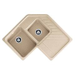 Franke Srg 621-e Sink recessed 84,6 x 84,6 oats - drip pan-right 114.0027.036 Summit Carron