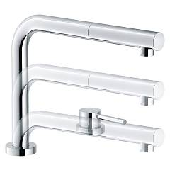 Franke Active Window Doccia Underfinestra mixer with shower - chrome