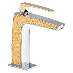 Frattini 84054sc.20 Washbasin mixer - chrome gold with drain Luce Suite
