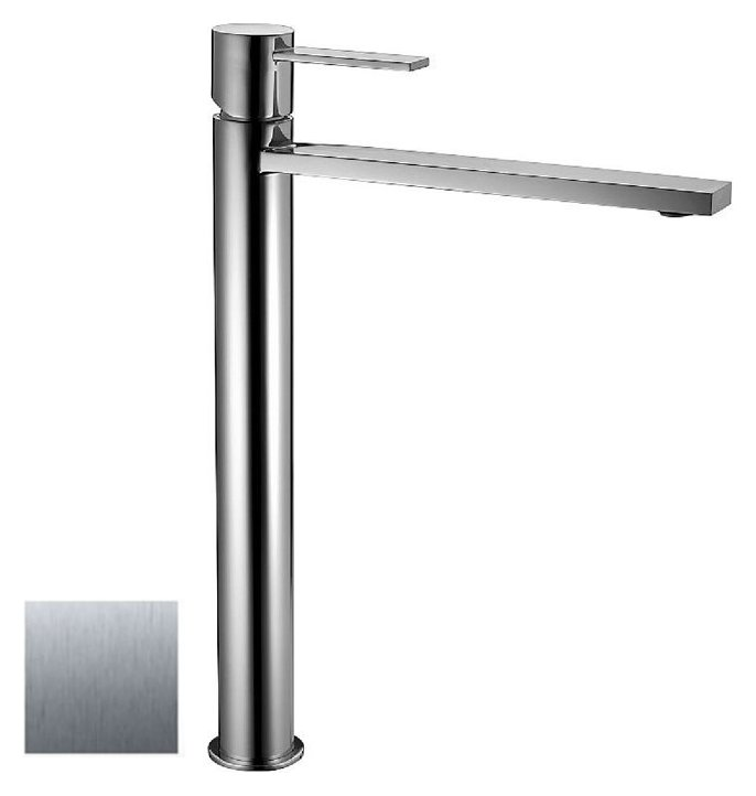 Fotografije 1: Frattini 55065.70 Gaia Basin mixer high - steel brez drain