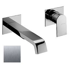 Frattini 83034a.70 Washbasin mixer - inox wall without discharge Tolomeo