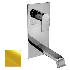 Frattini 83035.02 Washbasin mixer - wall gold without discharge Tolomeo