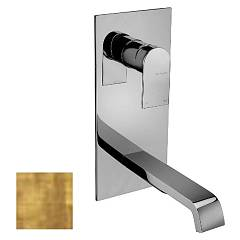 Frattini 83035.82 Washbasin mixer - ancient wall gold without discharge Tolomeo