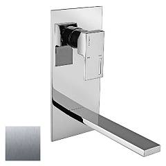 Frattini 53035.70 Wall-mounted single-lever basin mixer - inox without discharge Vita