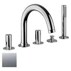 sale Frattini 12029a.70 - Pepe Tub Faucet - Stainless Steel With Shower