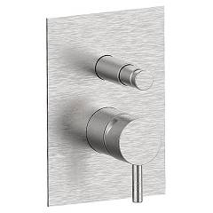 Frattini 1252070 Wall mounted shower mixer with diverter - stainless steel Pepe
