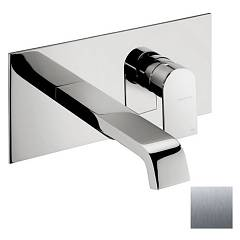 Frattini 83034.70 Washbasin mixer - inox wall without discharge Tolomeo