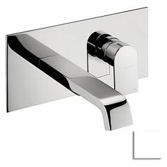 Frattini 83034.72 Basin mixer - matt white wall brez drain Tolomeo