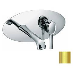 Frattini 58034.02 Wall basin mixer - gold brez drain Delizia
