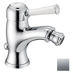 Frattini 63103.03 Bidet mixer - antique silver with drain Morgan Prestige
