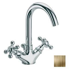 sale Frattini 21064.09 - Dedra Sink Faucet - Antique Brass With Exhaust