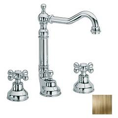 sale Frattini 21868.09 - Dedra Sink Faucet - Antique Brass With Exhaust