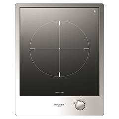 Fulgor Cph 401 Id X Induction hob 40 cm - black glass ceramic / stainless steel frame Piani Combi Set