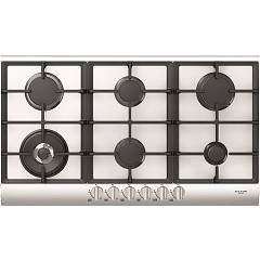 Fulgor Qlh 906 G Wk Wh X 90 cm gas hob - white glass / stainless steel profiles