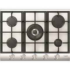 Fulgor Qlh 705 G Wk Wh X Gas hob 70 cm - white crystal / stainless steel profiles