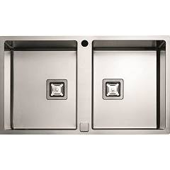 sale Fulgor P2b 8651 Qa F-sf Sink Recessed - Filotop Cm. 86 X 51 - Stainless Steel 2 Basins