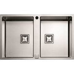 sale Fulgor P2b 7651 Qa F-sf Sink Recessed - Filotop Cm. 76 X 51 - Stainless Steel 2 Basins