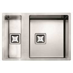 Fulgor P2b 5545 Q F-sf Sink recessed - filotop cm. 55 x 45 - stainless steel 1 basin and a half Serie 45