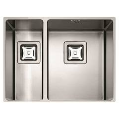 Fulgor P2b 5343 Q U Sink undermounted cm. 53 x 43 - stainless steel 1 basin and a half Serie 43