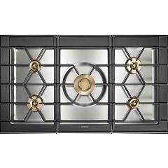 Gaggenau Cg 492 211 Natural gas hob cm. 100 - stainless steel with brass burners Serie 400
