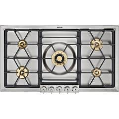 Gaggenau Vg 295 214 Natural gas hob cm. 90 - stainless steel with brass burners Serie 200