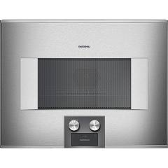 Gaggenau Bm 454 110 - Serie 400 Combined microwave oven cm. 60 - inox the hinge on the right Serie 400