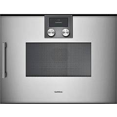 Gaggenau Bmp 250 110 - Serie 200 Combined microwave oven cm. 60 - inox the hinge on the right Serie 200