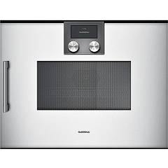 Gaggenau Bmp 250 130 - Serie 200 Microwave oven cm. 60 - silver the hinge on the right Serie 200