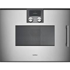 Gaggenau Bmp 251 110 - Serie 200 Combined microwave oven cm. 60 - inox zipper on the left Serie 200