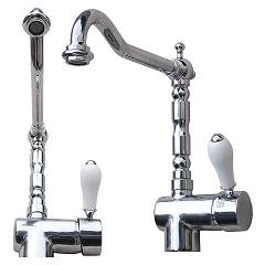 Geda Kt29 Single-lever kitchen mixer - chrome Antico