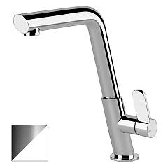 Gessi 50005.379 Kitchen mixer single lever white opaque + chrome Incline