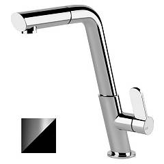 Gessi 50007.399 Single lever kitchen mixer with matt black + chrome shower head Incline