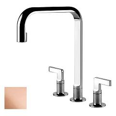 Gessi 58701.030 Kitchen faucet with three copper holes Inciso