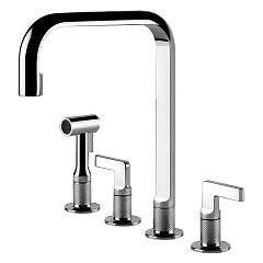 Gessi 58703.031 Kitchen faucet with chromed shower Inciso