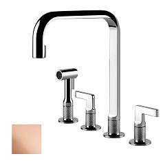 Gessi 58703.030 Kitchen faucet with bronze shower Inciso