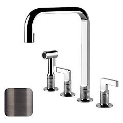 Gessi 58703.707 Kitchen faucet with brushed black metal shower Inciso