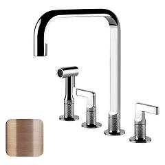 Gessi 58703.708 Kitchen faucet with brushed copper shower head Inciso
