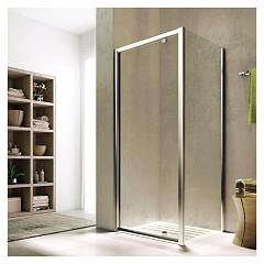 Glass Solo4 4g+ih Corner box cm. 80 x 80 extensibility cm. 76 - 81 x 76.5 - 79 1 pivoting door + fixed side h 195