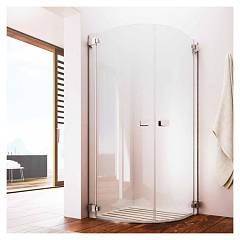 sale Glass Noor Nr Box Corner Semi-circular Cm. 80 X 80 Extensibility Cm. Of 76.5 - 80 1 Door Swing H 195