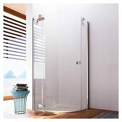 sale Glass Noor Ns Box Corner Semi-circular Cm. 100 X 90 Extensibility Cm. 97,5 - 100 / 86 - 90 1 Door Swing H 195