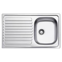Glem Gl186ixd Built-in sink cm. 86 - inox 1 + drip bowl sx dx