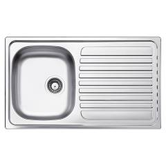 Glem Gl186ixs Built-in sink cm. 86 - inox 1 bowl drip dx sx +