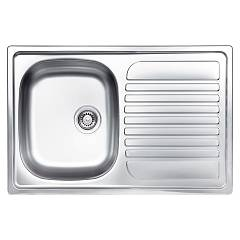 Glem Gl179xs Built-in sink cm. 79 - inox 1 bowl drip dx sx +