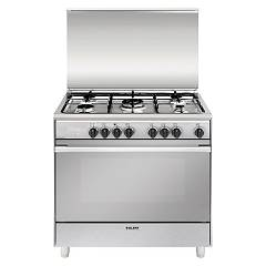Glem U965mi Kitchen cm. 90 x 60 - inox 5 fires - 1 electric oven Unica